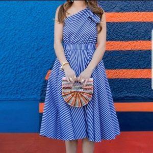 [Eliza J] One Shoulder Stripe Dress  0P